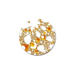 Special Fractal 04 Orange Golf Ball Marker