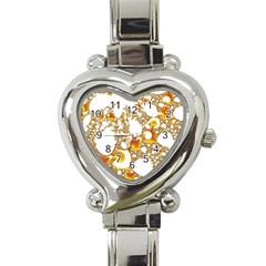 Special Fractal 04 Orange Heart Italian Charm Watch