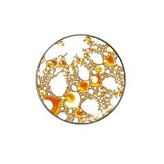 Special Fractal 04 Orange Golf Ball Marker 4 Pack (for Hat Clip)