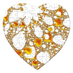Special Fractal 04 Orange Jigsaw Puzzle (Heart)