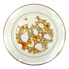 Special Fractal 04 Orange Porcelain Display Plate