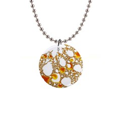 Special Fractal 04 Orange Button Necklace
