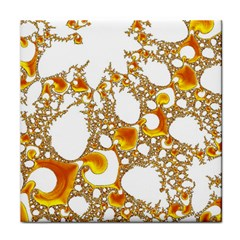 Special Fractal 04 Orange Face Towel