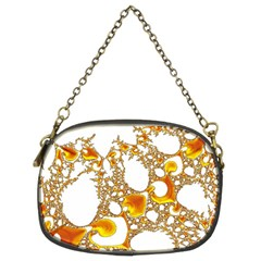 Special Fractal 04 Orange Chain Purse (Two Sided)