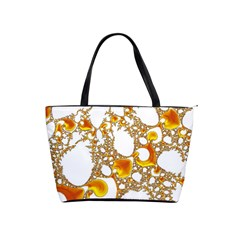 Special Fractal 04 Orange Large Shoulder Bag