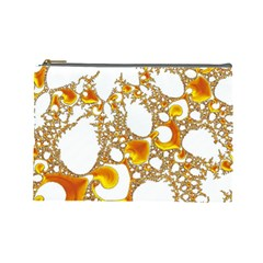 Special Fractal 04 Orange Cosmetic Bag (Large)
