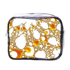 Special Fractal 04 Orange Mini Travel Toiletry Bag (One Side)