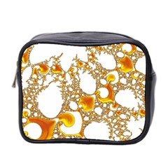 Special Fractal 04 Orange Mini Travel Toiletry Bag (two Sides)