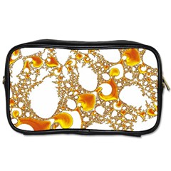 Special Fractal 04 Orange Travel Toiletry Bag (two Sides)