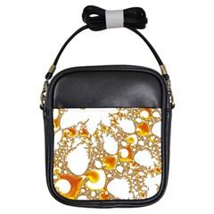 Special Fractal 04 Orange Girl s Sling Bag