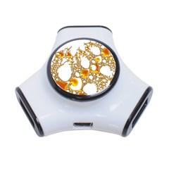 Special Fractal 04 Orange 3 Port USB Hub