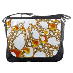 Special Fractal 04 Orange Messenger Bag