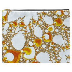 Special Fractal 04 Orange Cosmetic Bag (XXXL)