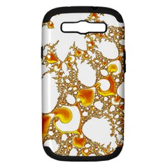 Special Fractal 04 Orange Samsung Galaxy S Iii Hardshell Case (pc+silicone)