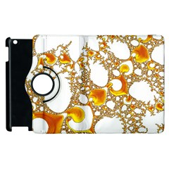 Special Fractal 04 Orange Apple iPad 3/4 Flip 360 Case
