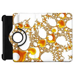 Special Fractal 04 Orange Kindle Fire HD 7  (1st Gen) Flip 360 Case