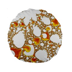 Special Fractal 04 Orange 15  Premium Round Cushion
