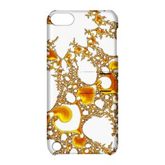 Special Fractal 04 Orange Apple Ipod Touch 5 Hardshell Case With Stand