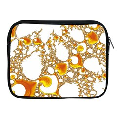 Special Fractal 04 Orange Apple iPad Zippered Sleeve