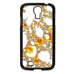 Special Fractal 04 Orange Samsung Galaxy S4 I9500/ I9505 Case (black)