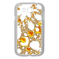 Special Fractal 04 Orange Samsung Galaxy Grand DUOS I9082 Case (White)