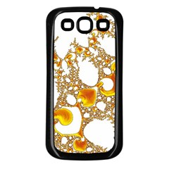 Special Fractal 04 Orange Samsung Galaxy S3 Back Case (black)