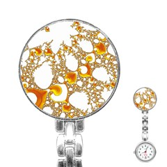 Special Fractal 04 Orange Stainless Steel Nurses Watch