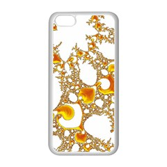 Special Fractal 04 Orange Apple iPhone 5C Seamless Case (White)