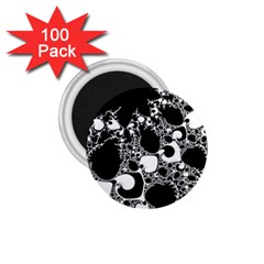 Special Fractal 04 B&w 1.75  Button Magnet (100 pack)