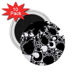Special Fractal 04 B&w 2.25  Button Magnet (10 pack)