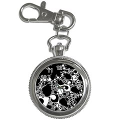 Special Fractal 04 B&w Key Chain Watch