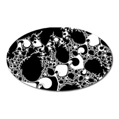 Special Fractal 04 B&w Magnet (Oval)