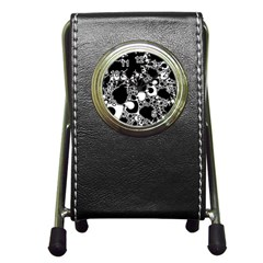 Special Fractal 04 B&w Stationery Holder Clock