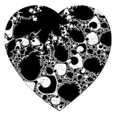 Special Fractal 04 B&w Jigsaw Puzzle (Heart)