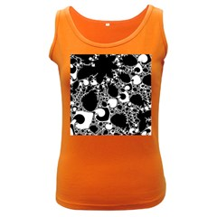 Special Fractal 04 B&w Women s Tank Top (Dark Colored)