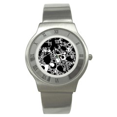 Special Fractal 04 B&w Stainless Steel Watch (slim)