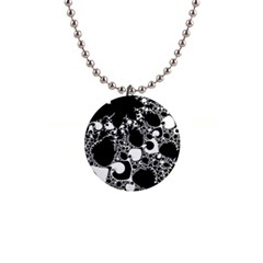 Special Fractal 04 B&w Button Necklace