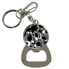 Special Fractal 04 B&w Bottle Opener Key Chain