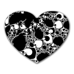 Special Fractal 04 B&w Mouse Pad (Heart)