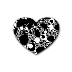 Special Fractal 04 B&w Drink Coasters (Heart)