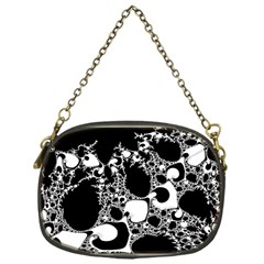 Special Fractal 04 B&w Chain Purse (One Side)