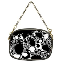 Special Fractal 04 B&w Chain Purse (two Sided)