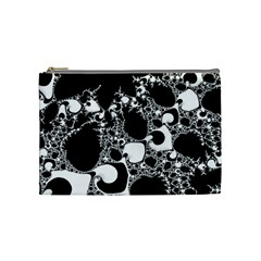 Special Fractal 04 B&w Cosmetic Bag (medium)