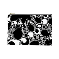 Special Fractal 04 B&w Cosmetic Bag (large)