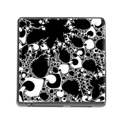 Special Fractal 04 B&w Memory Card Reader With Storage (square)