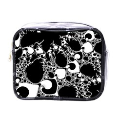 Special Fractal 04 B&w Mini Travel Toiletry Bag (one Side)