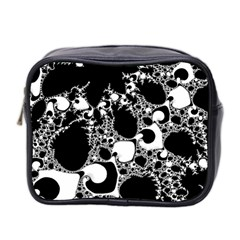 Special Fractal 04 B&w Mini Travel Toiletry Bag (two Sides)