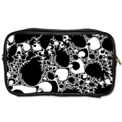 Special Fractal 04 B&w Travel Toiletry Bag (Two Sides)