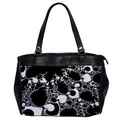 Special Fractal 04 B&w Oversize Office Handbag (one Side)