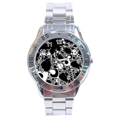 Special Fractal 04 B&w Stainless Steel Watch